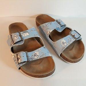 Lands' end birkenstock style leather sandals